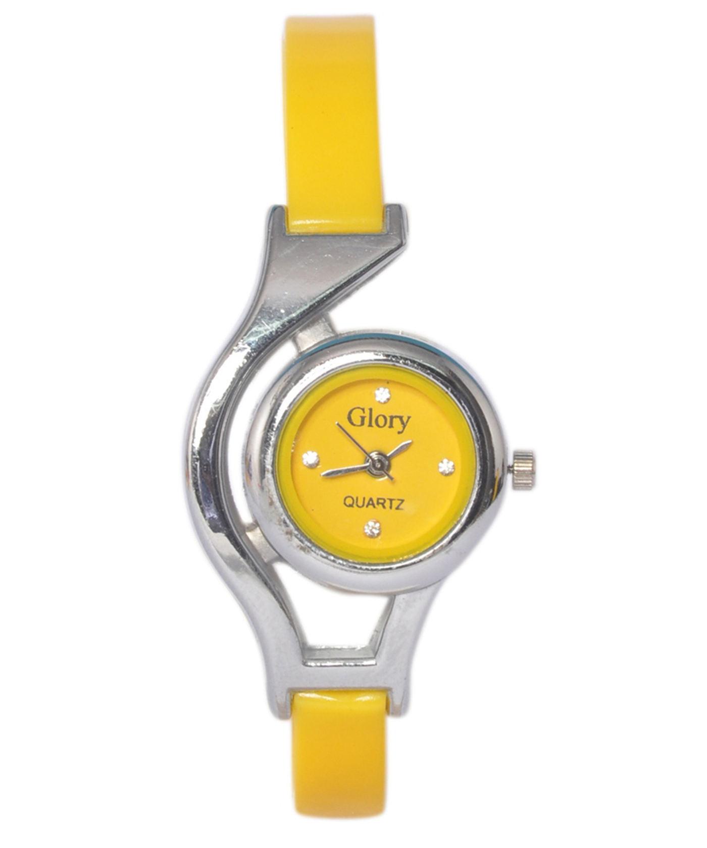 Online Shopping India Glory Yellow Analog Fancy Watch For
