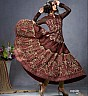 Anarkali Semi Stitched Coffee Salwar Kameez - Online Shopping India
