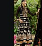 Georgette Semi Stitched Black Salwar Kameez - Online Shopping India