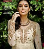 Georgette Semi Stitched Cream Salwar Kameez - Online Shopping India