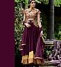 Georgette Semi Stitched Magenta Salwar Kameez - Online Shopping India