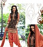 Peach Coffee Patiala Semi Stitched Salwar Kameez - Online Shopping India