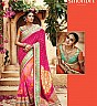 Kimora's Sindhuri Designer Pink Embroidered Saree - Online Shopping India