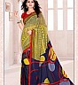 Bansi  Vichitra  Georgette Printed Multicolour Saree - Online Shopping India