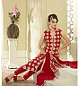 Ashirwad Designer Red Straight Suit - Online Shopping India