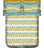 OSI ZZ Hue Dart I White & Yellow Double Bed Sheet with 2 Pillow Covers - Online Shopping India