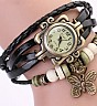 Vintage Black Bracelet Butterfly Analog Watch For Women/Ladies - Online Shopping India