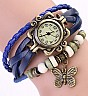 Vintage Blue Bracelet Butterfly Analog Watch For Women/Ladies - Online Shopping India
