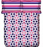 OSI ED Intersection B White & Purple Double Bed Sheet with 2 Pillow Covers - Online Shopping India