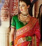 Cream & Bandhani Pallu Saree - Online Shopping India