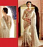 Golden & Cream Saree - Online Shopping India